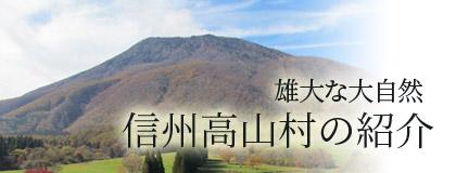 雄大な大自然 信州高山村の紹介